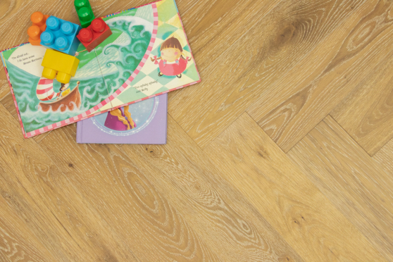 Natural Engineered Flooring Oak Herringbone White Wash Smoked Brushed UV Lacquered 10/3mm By 120mm By 600mm FL3894 9