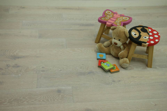 Natural Engineered Flooring Oak Sunny White Brushed UV Oiled 14/3mm By 190mm By 400-1500mm FL1397 1