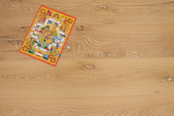 Natural Engineered Flooring Oak Canal Grande Brushed UV Lacquered 15/4mm By 230mm By 1025-2330mm GP250 1