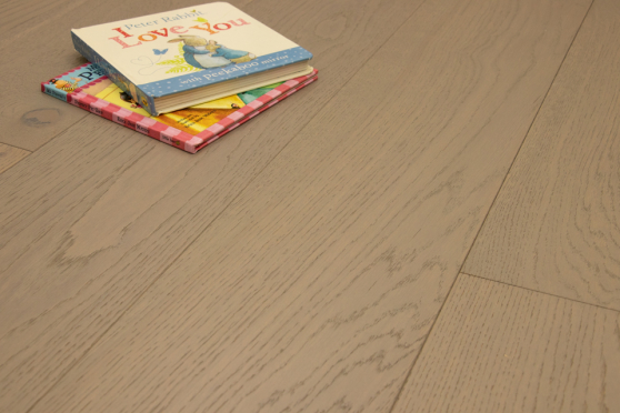 Natural Engineered Flooring Oak Click Light Grey Brushed UV Lacquered 14/3mm By 190mm By 1900mm FL3836 4