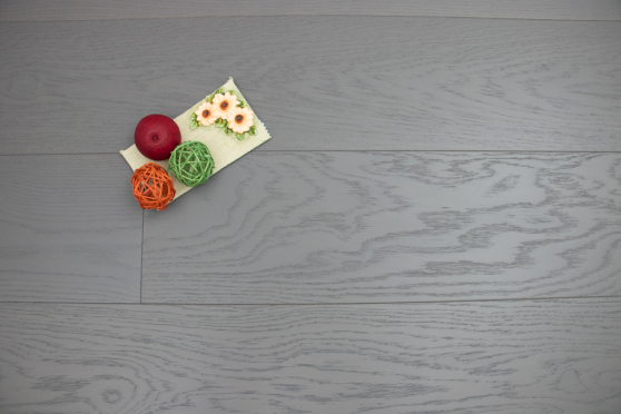 Natural Engineered Flooring Oak Click Slate Grey Brushed UV Lacquered 14/3mm By 190mm By 1900mm FL3468 3