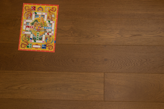 Natural Engineered Flooring Oak Click Vivid Smoked Brushed UV Lacquered 14/3mm By 190mm By 1900mm FL3427 5