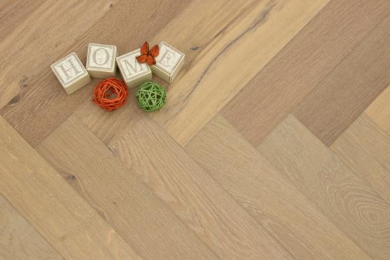 Natural Engineered Flooring Oak Herringbone Smoked Grey Brushed UV Oiled 15/4mm By 90mm By 600mm FL3370 10