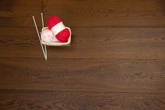 Rustic Engineered Flooring Oak Coffee Brushed UV Oiled 14/3mm By 190mm By 1900mm FL3489 0