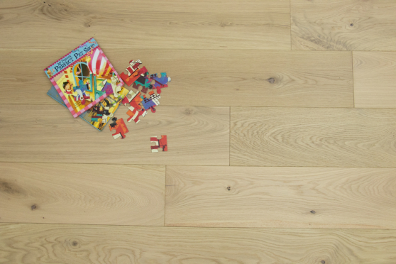 Natural Engineered Flooring Oak Non Visible Brushed UV Lacquered 15/4mm By 220mm By 2200mm FL3771 5