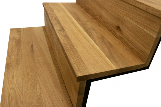 Oak Solid Full Stave Step Unfinished 20mm By 1000mm By 330mm