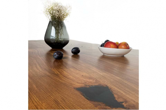 European Oak Table with Resin 40mm By 950mm By 2400mm TB015 7