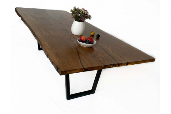 European Oak Table with Resin 38mm By 1080mm By 1720mm