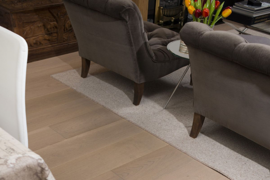Select Engineered Oak Paris White UV Oiled 15/4mm By 220mm By 1900mm FL1526 1