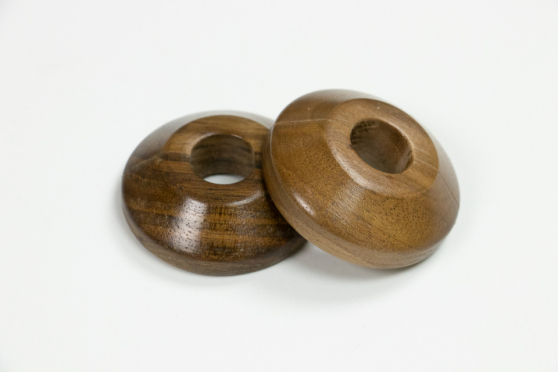 Pair of Walnut Pipe Covers 15mm