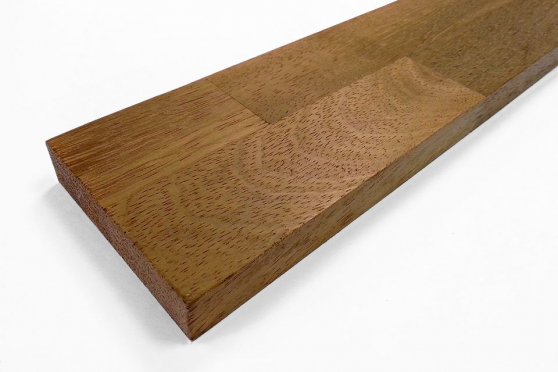 Premium Iroko Kitchen Worktop Upstand 18mm by 80mm by 3000mm WT089 1