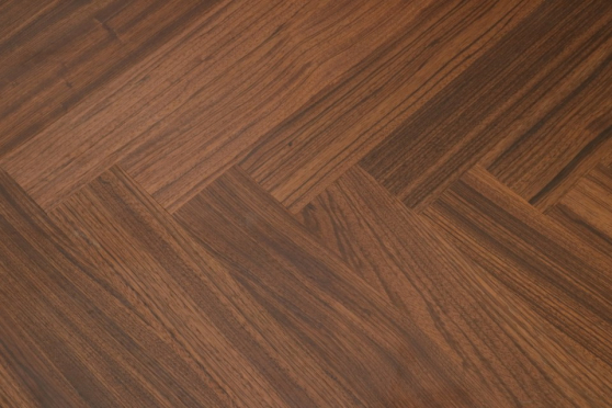 Prime Engineered Flooring African Walnut Herringbone Brushed Matt UV Lacquered 14/3mm By 97mm By 582mm FL3440 1
