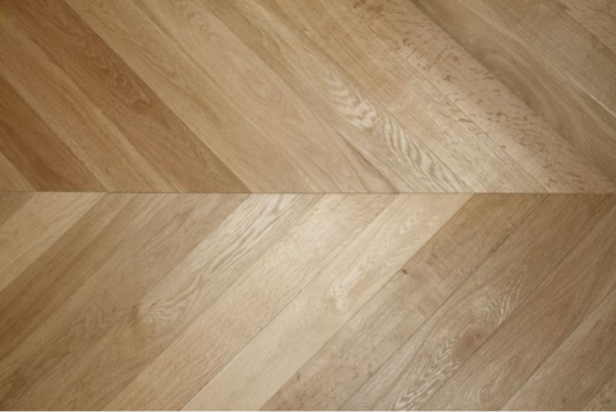 Prime Engineered Flooring Oak Chevron Brushed Unfinished 15/4mm By 90mm By 610mm FL1980 1