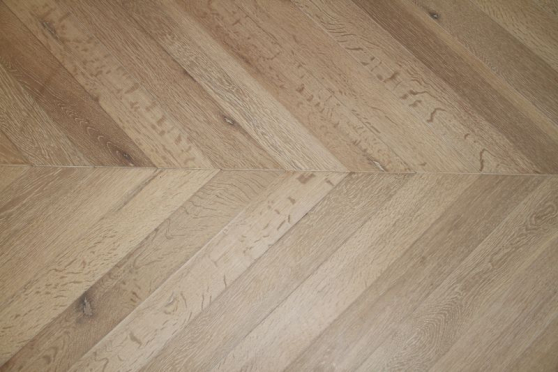 Prime Engineered Flooring Oak Chevron Brushed White Oiled Two 18/5mm By 90mm By 850mm CH017 1