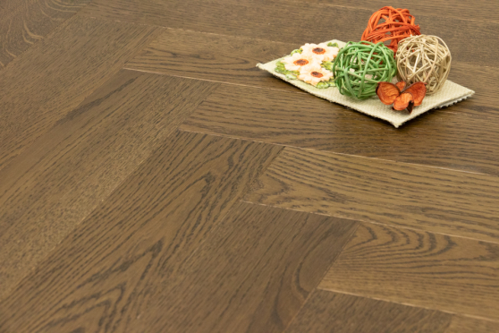 Prime Engineered Flooring Oak Herringbone Coffee Brushed UV Oiled 14/3mm By 98mm By 790mm FL2931 6