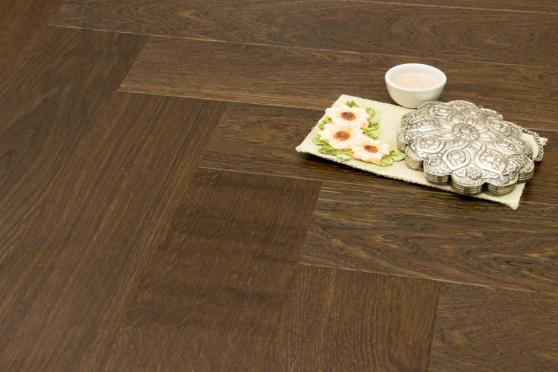 Prime Engineered Flooring Oak Herringbone Dark Smoked Brushed UV Oiled 14/3mm By 97mm By 582mm FL2378 4