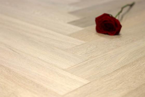 Prime Engineered Flooring Oak Herringbone Milan White Brushed UV Matt Lacquered 10/3mm By 97mm By 582mm FL4046 1