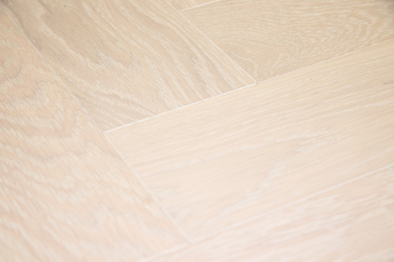Prime Engineered Flooring Oak Herringbone Polar White Brushed UV Matt Lacquered 14/3mm By 98mm By 588mm FL3936 1