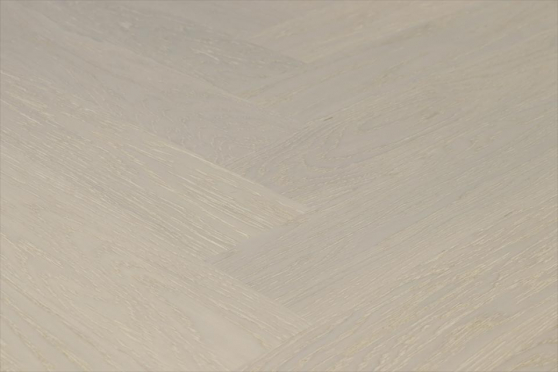 Prime Engineered Flooring Oak Herringbone Sealed No Beveled Brushed UV Lacquered 14/3mm By 98mm By 588mm