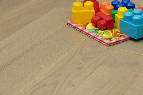 Prime Engineered Flooring Oak Herringbone Silver Stone Brushed UV Semi Matt Lacquered 10/3mm By 97mm By 582mm FL4047 0