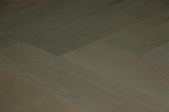 Prime Engineered Flooring Oak Herringbone Summer Grey Brushed UV Oiled 15/4mm By 90mm By 600mm FL2743 1
