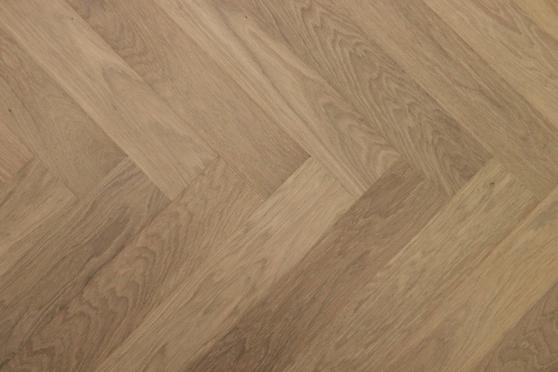 Prime Engineered Flooring Oak Herringbone Sunny White Brushed UV Oiled 14/3mm By 98mm By 590mm FL2826 1