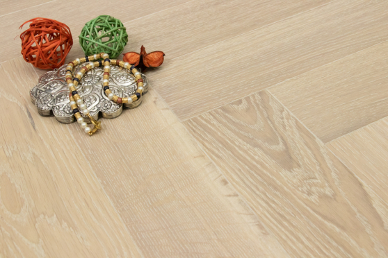 Prime Engineered Flooring Oak Herringbone Sunny White Brushed UV Oiled 14/3mm By 98mm By 790mm FL2827 5