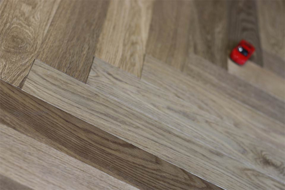 Prime Engineered Oak Herringbone Dark Smoked Brushed UV Oiled 15/4mm By 90mm By 600mm FL1963 1