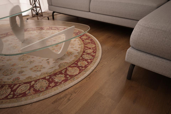 Prime Engineered Oak Smoked Brushed UV Oiled 14/3mm By 190mm By 1900mm FL1289 1