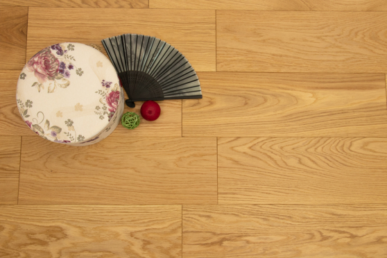 Prime Engineered Flooring Oak Brushed UV Lacquered 14/3mm By 150mm By 400-1500mm