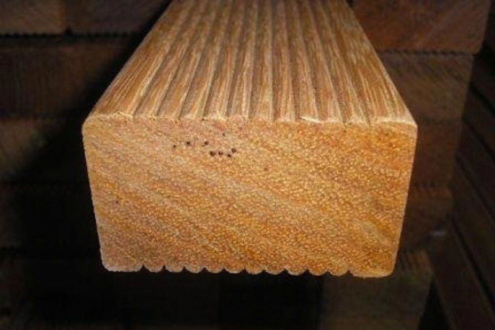 Red Balau Hardwood Decking Joists 45mm By 70mm By 2900mm AC200 1