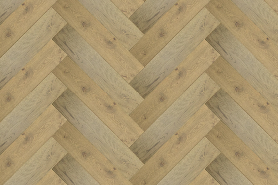 Natural Engineered Flooring Oak Herringbone Roma Brushed UV Oiled 15/4mm By 125mm By 600mm
