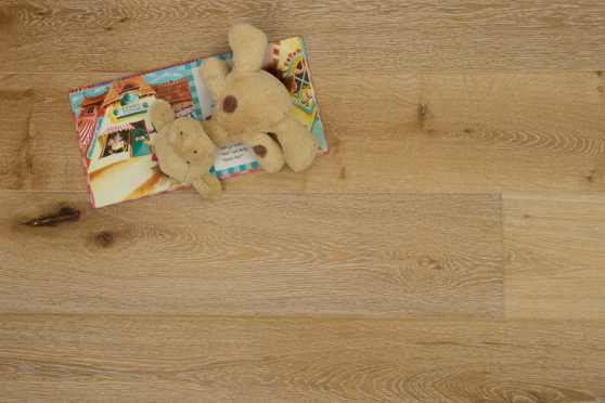 Natural Engineered Flooring Oak White Washed Brushed UV Lacquered 14/3mm By 190mm By 1900mm FL669 4