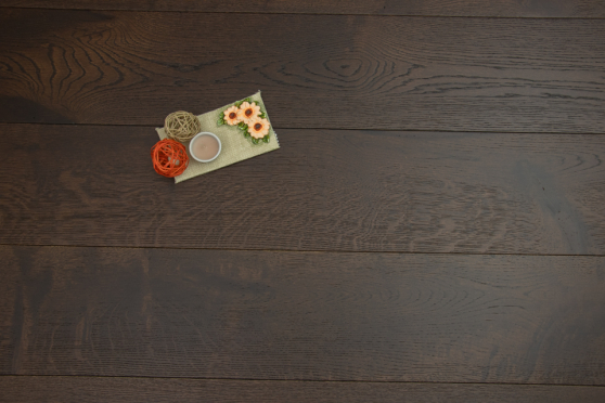 Rustic Engineered Flooring Oak Black Tea Brushed UV Oiled 14/3mm By 190mm By 400-1500mm  FL3490 1