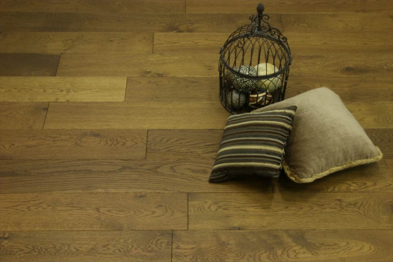 Natural Engineered Oak Smoked Brushed UV Oiled 14/3mm By 190mm By 400-1500mm FL1465 4