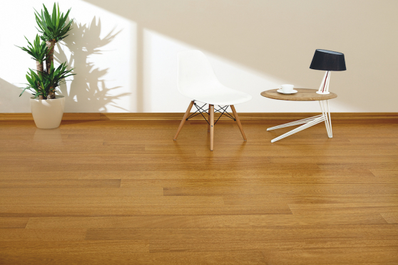 Prime Engineered Flooring Iroko Click UV Lacquered 14/3mm By 146mm By 1800mm FL3930 0