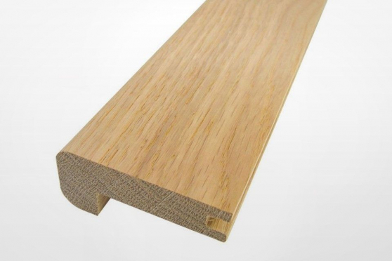 Solid Oak Stair Nosing Grooved 50 mm By 25 mm By 1000-1200mm ACS282 1