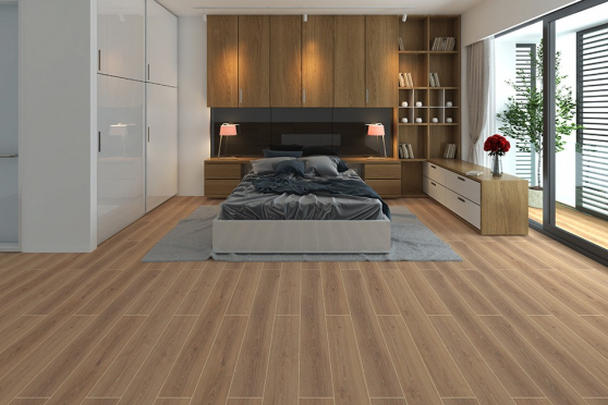 Tirol Oak Light Beige Laminate Flooring 8mm By 195mm By 1380mm LM020 1
