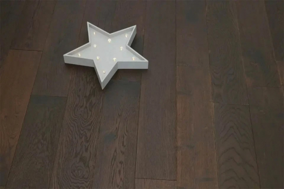 Rustic Engineered Flooring Oak Black Tea Brushed UV Oiled 10/3mm By 150mm By 600-1200mm FL2778 1