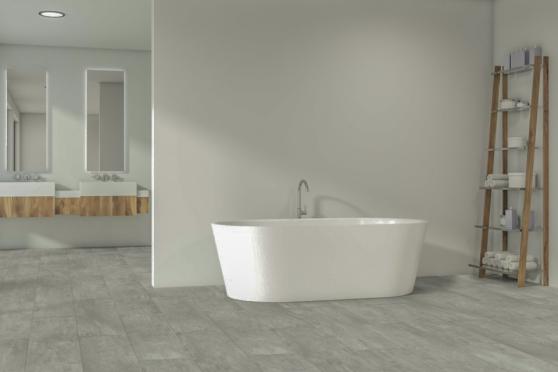 Luxury Click Vinyl Rigid Core Flooring Clay Tiles 5mm By 305mm By 610mm VL057 0