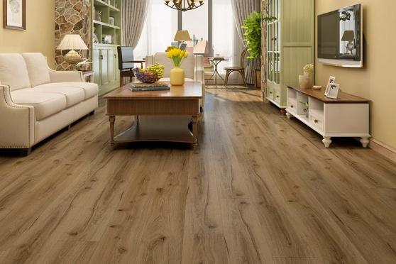 Luxury Click Vinyl Rigid Core Flooring Adobe Sand 4.2mm By 178mm By 1220mm VL024 0