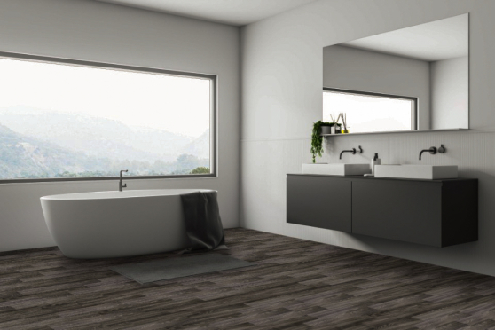 Luxury Click Vinyl Rigid Core Flooring Earth Grey 5mm By 181mm By 1220mm VL038 0