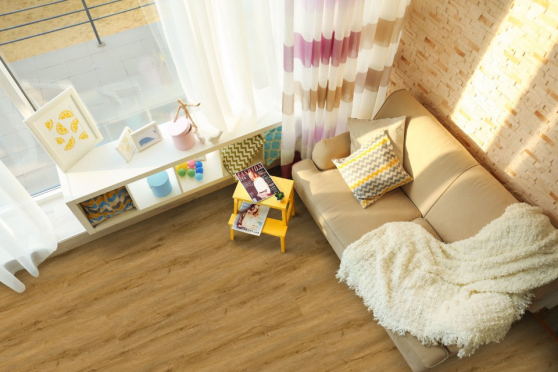 Luxury Click Vinyl Rigid Core Flooring Nature 6.5mm By 181mm By 1220mm( include 1mm underlay) VL047 1