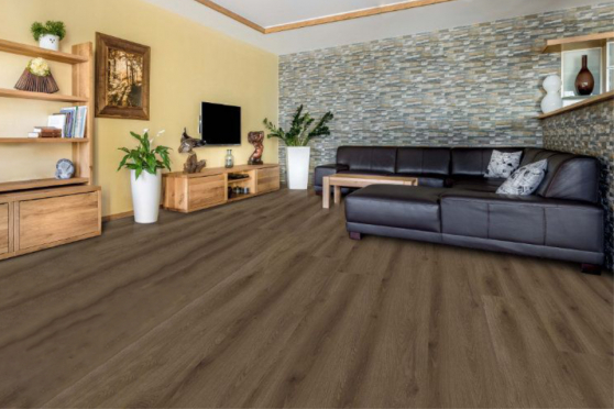 Luxury Click Vinyl Rigid Core Flooring Coffee 6.5mm By 181mm By 1220mm( include 1mm underlay) VL048 2