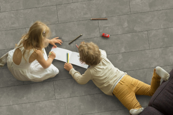 Luxury Click Vinyl Rigid Core Flooring Platinum Tiles 5mm By 305mm By 610mm VL058 0