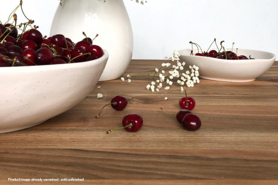 Full Stave European Walnut Worktop 40mm By 1000mm By 2500mm WT909 3