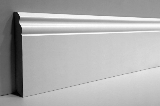 White MDF Skirting Board 120mm by 15mm by 2400mm AC6077 1