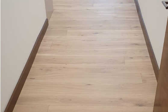 Natural Engineered Flooring Oak Bespoke White Sand UV Oiled 16/4mm By 220mm By 1500-2400mm GP100 1