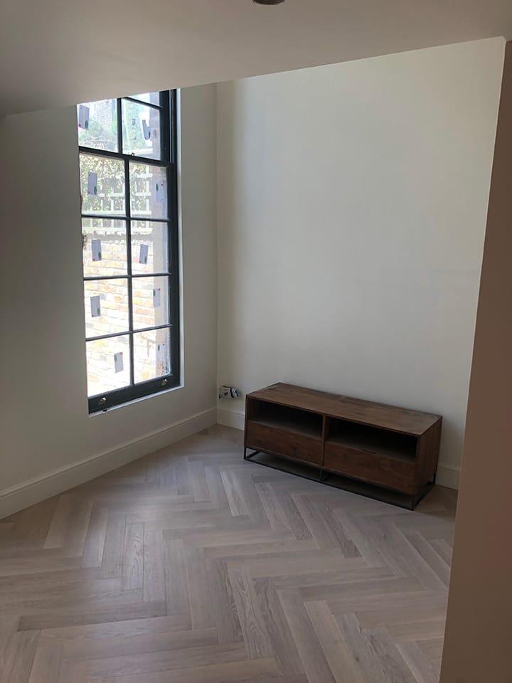 Prime Engineered Flooring Oak Herringbone Sunny White