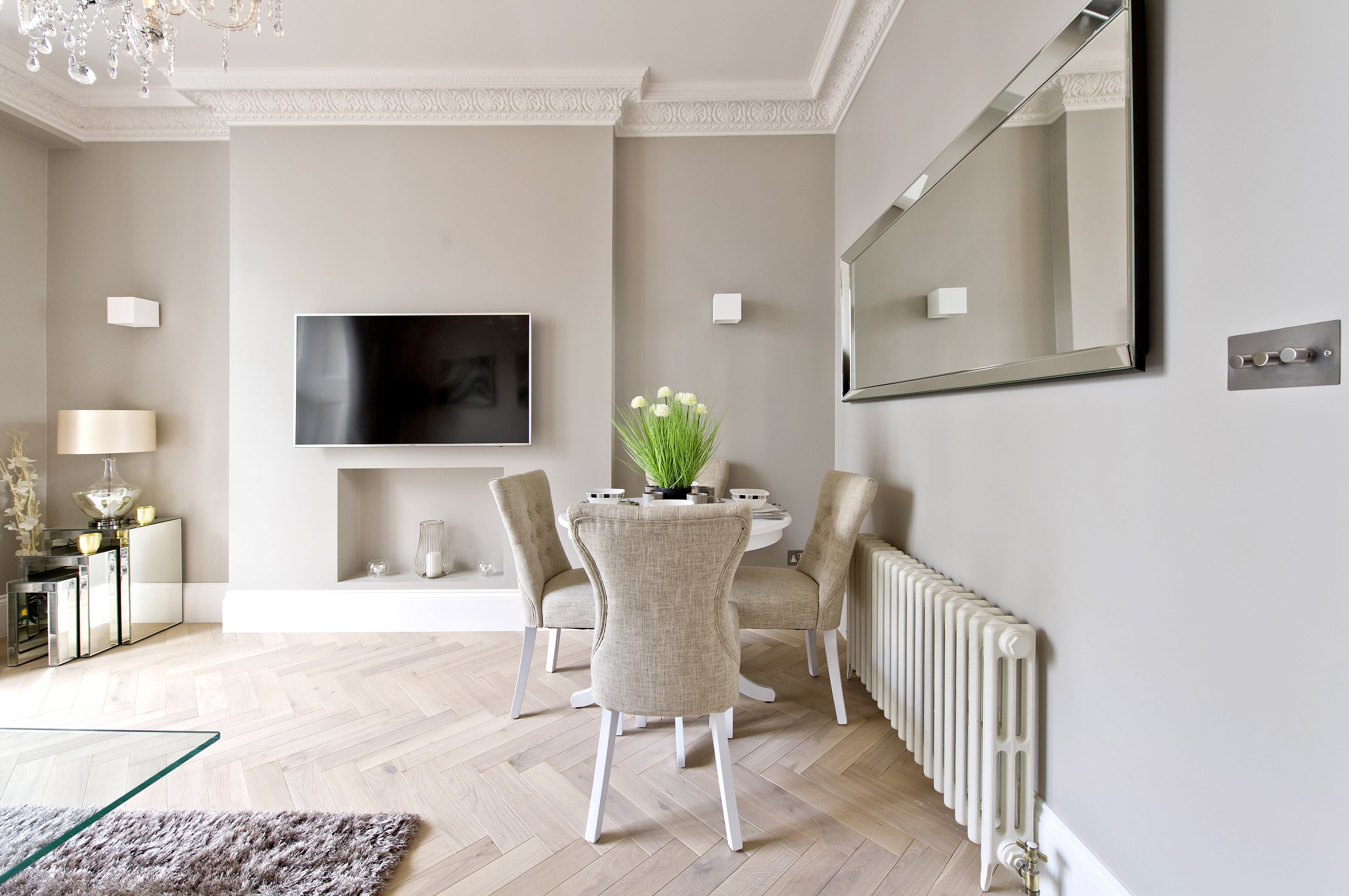 Natural Engineered Flooring Oak Herringbone White